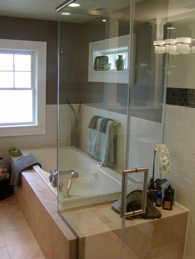 Arts and Crafts Spa Bath contemporary bathroom