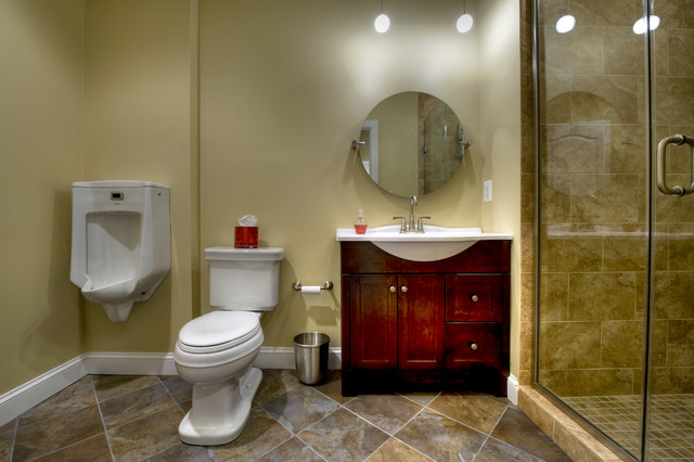 Ashburn Transitional Basement   Bathroom Contemporary Bathroom