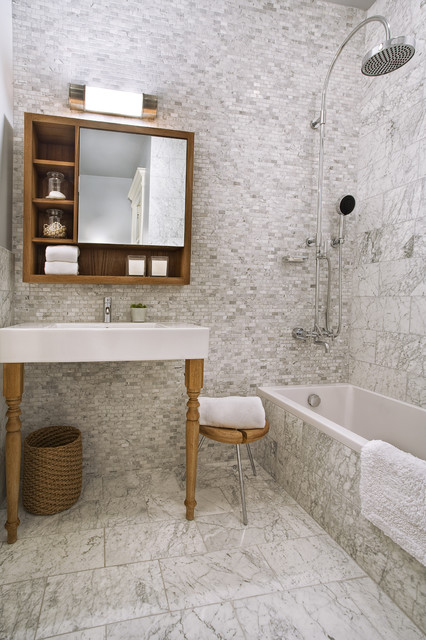 Ashbury St contemporary-bathroom