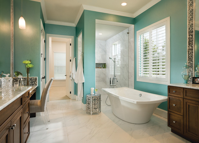 Asheville model home interior design 1264f traditional bathroom tampa by arthur for Interior design model homes pictures