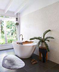24 Beautiful Ideas for Textured Bathroom Wall Tiles