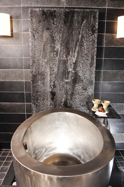 Asian Bath by Danenberg Design - Featured in Gentry Design & other publications contemporary bathroom