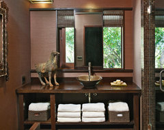 MALIBU REMODEL asian powder room