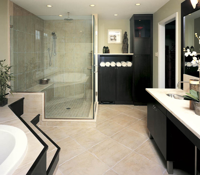 Asian inspired bath contemporary bathroom other for Asian style bathroom designs