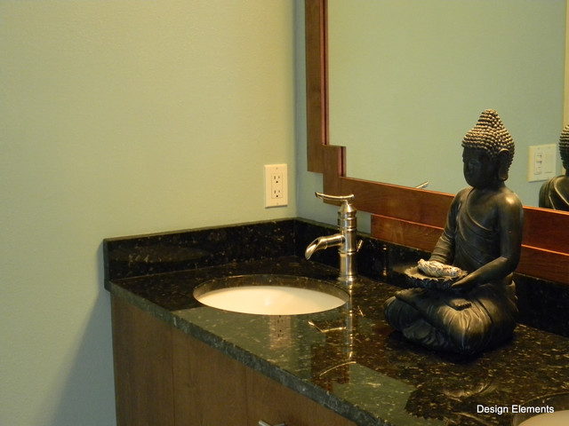 Asian inspired master bath asian bathroom other by design elements of brevard inc - Asian themed bathroom decor ...