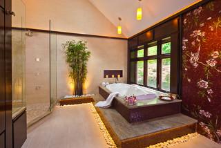 Asian inspired master bath asiatisch badezimmer for Gartenmobel asiatisch