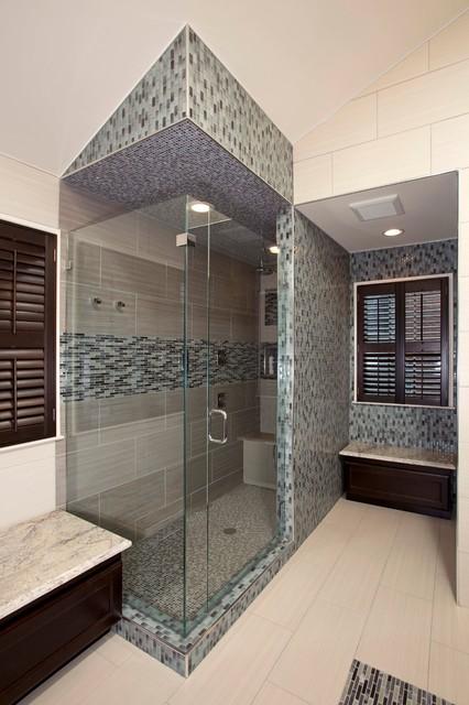 Asian Inspired Master Bath Remodel In Oak Hill Virginia