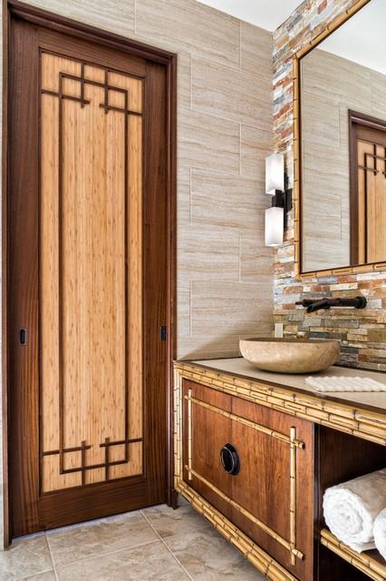 Asian Inspired Retreat in Palm Beach - Custom Bamboo Doors - Asian - Bathroom - denver - by ...