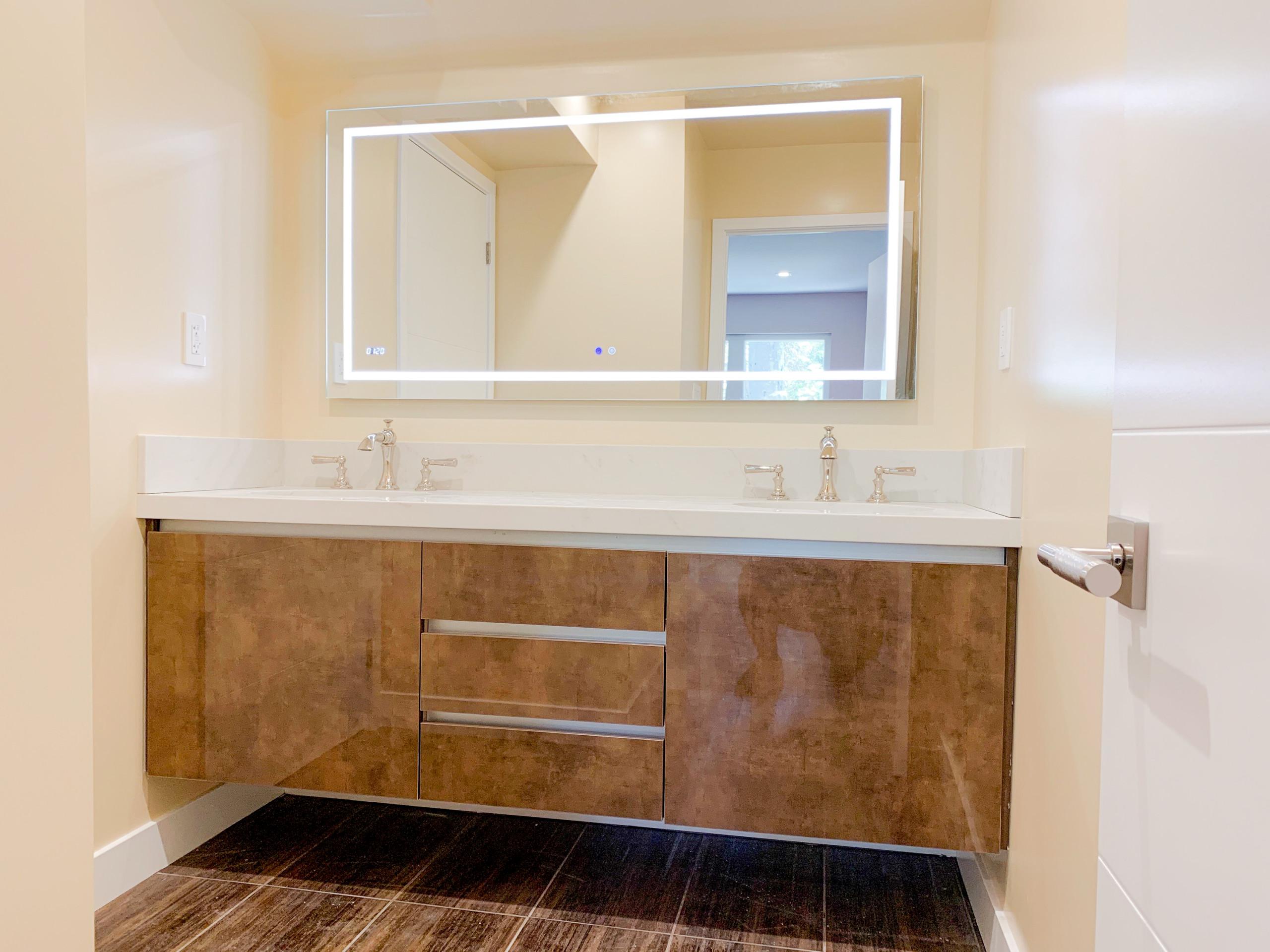 Asian Inspired transitional bathroom