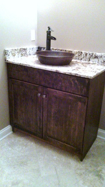 Inspiration for a rustic bathroom remodel in Chicago