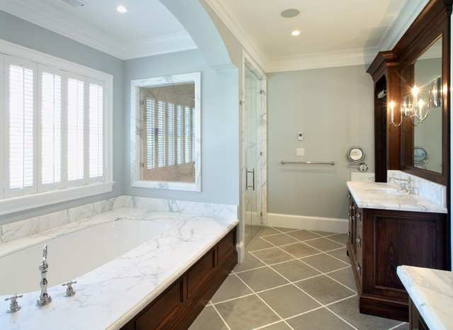 Atherton, California Luxury Home by Markay Johnson Construction traditional bathroom