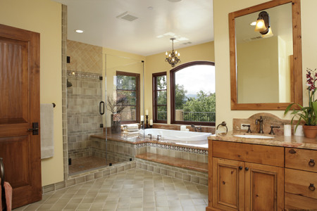 Interior Designers Decorators Atherton Residence Mediterranean Bathroom