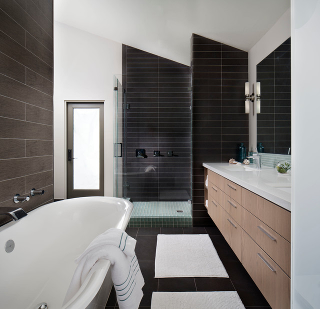 Atomic ranch contemporary bathroom san diego by kw for Ranch bathroom design