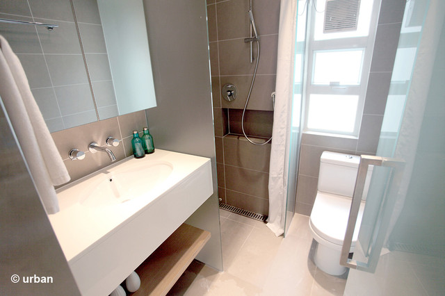 Atria serviced apartment standard studios contemporary bathroom hong kong by urban Interior design for apartment bathroom