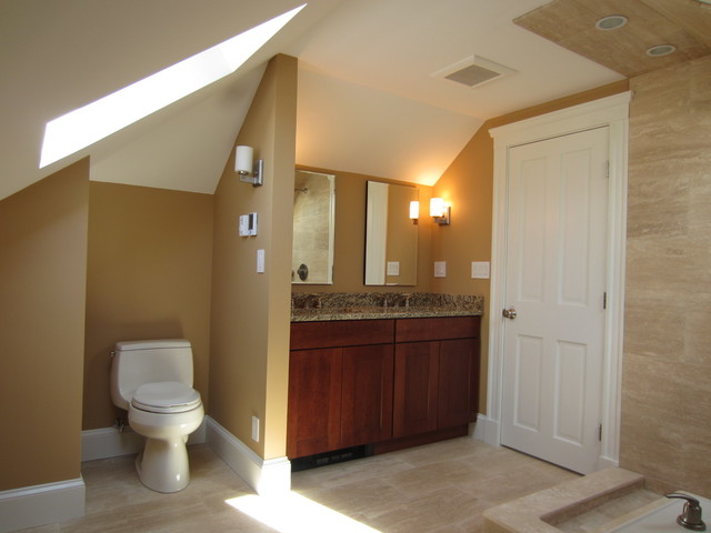 Attic Addition Master Suite Traditional Bathroom