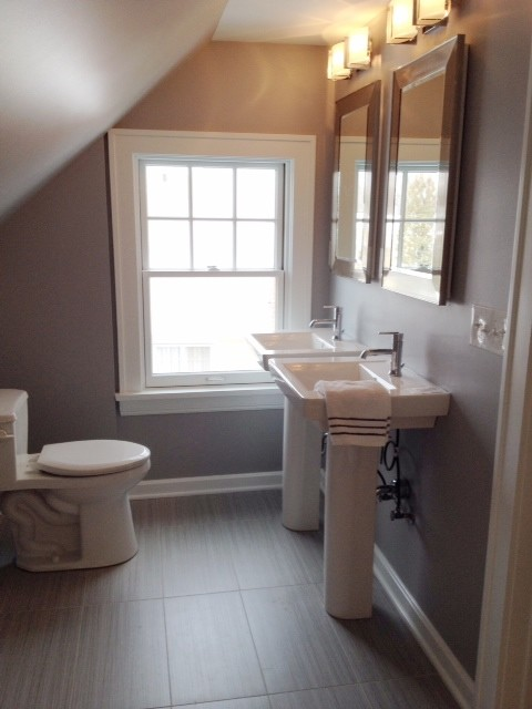 Attic Bath Transformed To New Master Bath Suite Bathroom Cleveland By Robin Storie