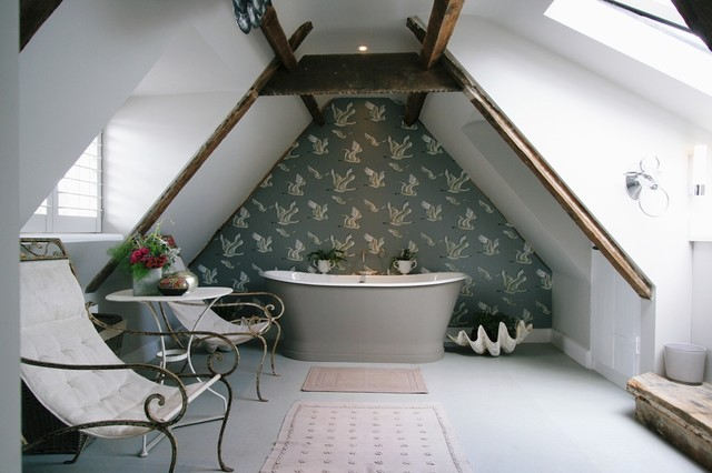 Attic Bathroom Shabby Chic Style Bathroom