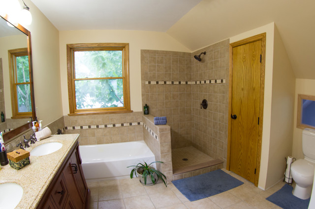 Attic Master Suite Traditional Bathroom Columbus By Sym Home