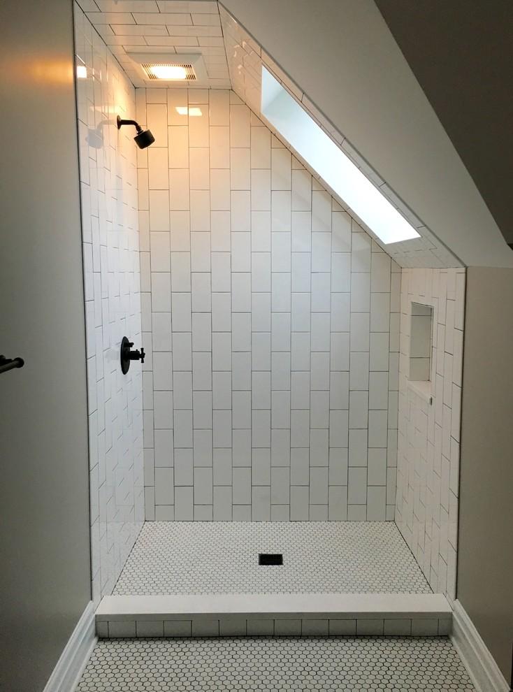 Attic renovation - Evanston IL. - Traditional - Bathroom ...