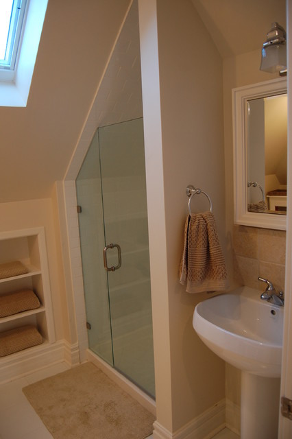attic master bedroom decorating ideas - Attic renovations Contemporary Bathroom by