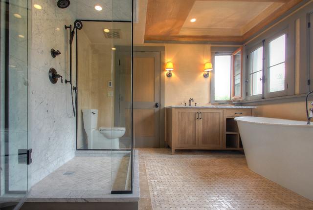 Auburn - Chuck Griffin Architect, Mark DePiero Builder mediterranean-bathroom