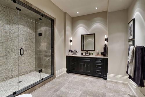 beautiful bathrooms.  Is the vanity stain black or dark brown Beautiful bathroom