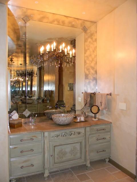Austin ranch mediterranean-bathroom