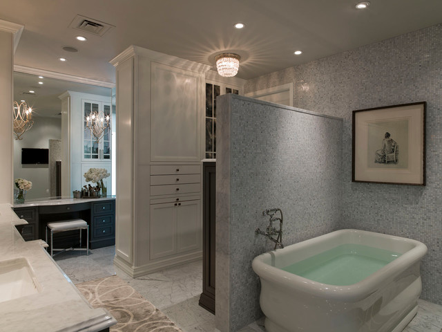 Austonian luxury condo contemporary bathroom austin for Condo bathroom designs