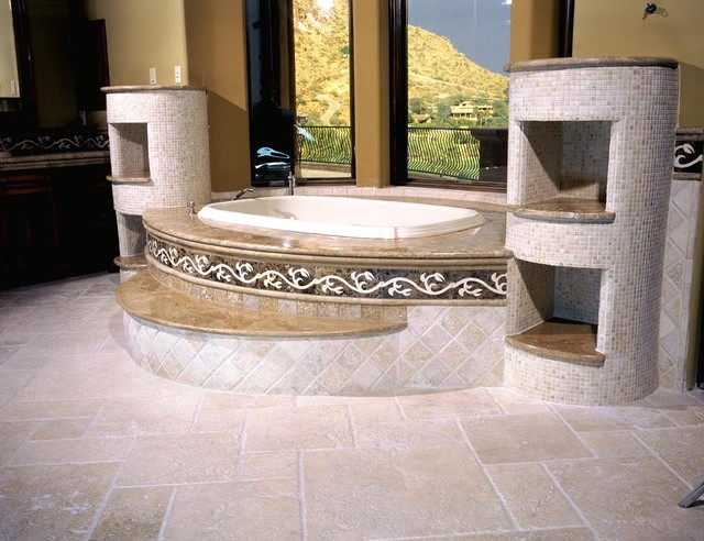 Authentic Durango Ancient Veracruz™ Bathroom Tile and Tub contemporary