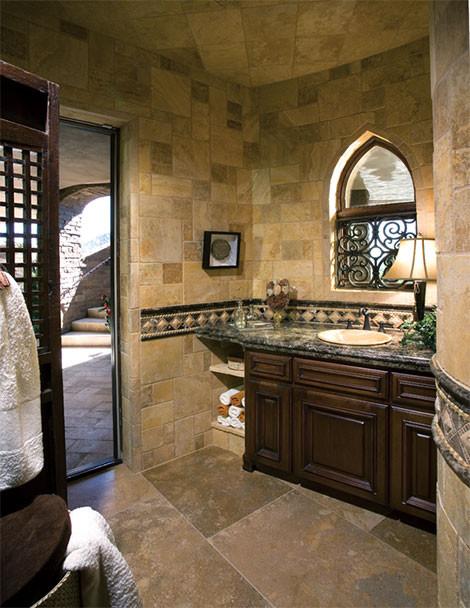 Awesome Authentic Durango Stone™ Pool Bathroom Mediterranean Bathroom