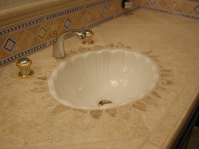 Authentic Durango Veracruz™ Vanity Countertop mediterranean-bathroom