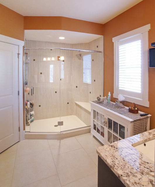 Autumn Run Custom Home contemporary bathroom