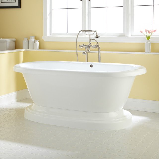 avon acrylic pedestal tub - contemporary - bathroom - cincinnati