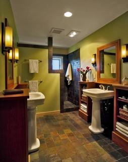 award winning bathroom renovation - contemporary