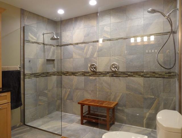 Ayers Rock Ann Arbor Bath Remodel For Two Rustic Bathroom Detroit By Dreammaker Bath
