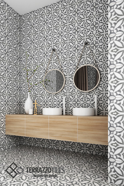 Ayla Cement Tiles_TERRAZZO TILES - Contemporary - Bathroom - London ...