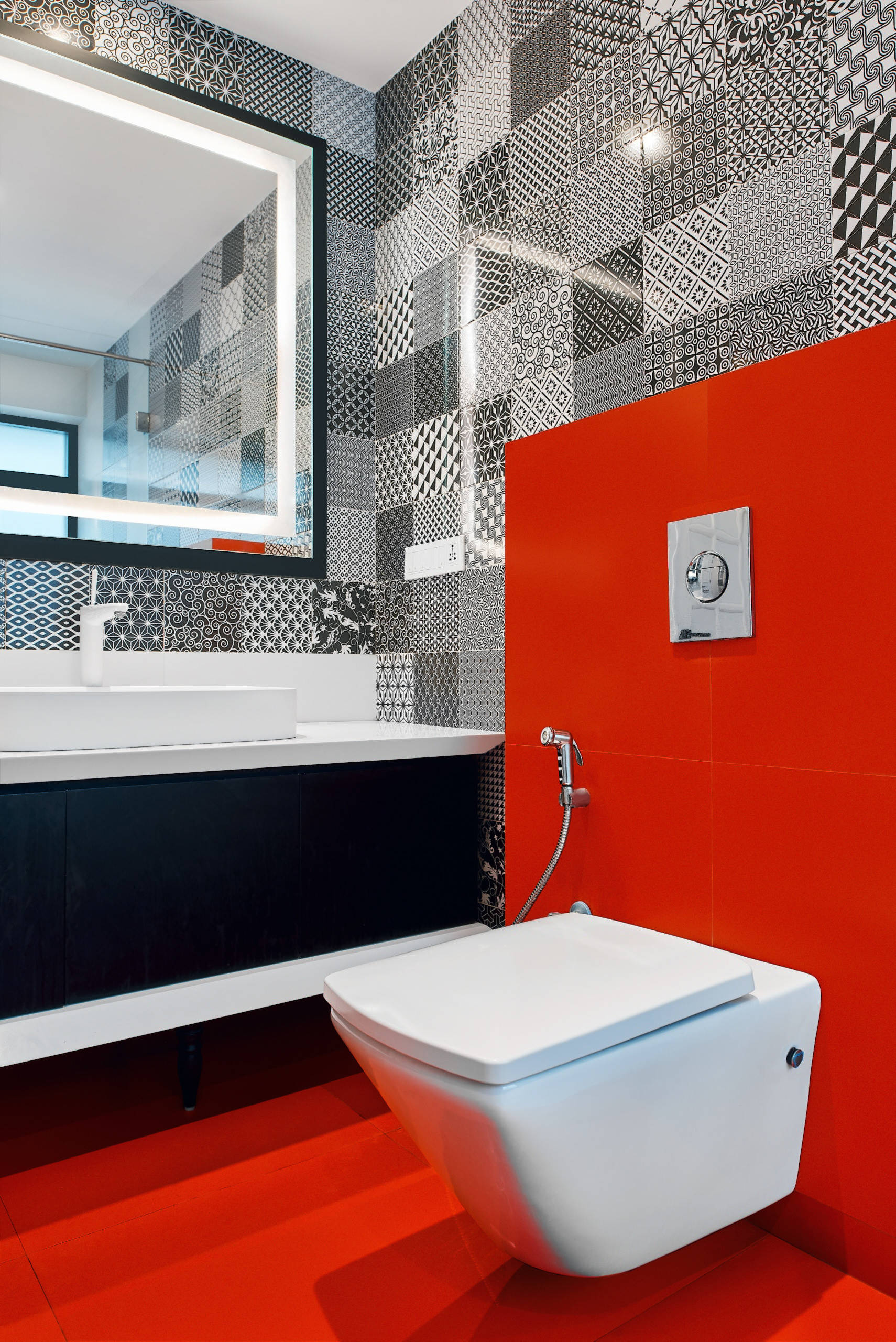 75 Beautiful Red Bathroom Pictures Ideas March 2021 Houzz
