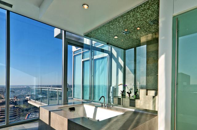 Azure Penthouse contemporary-bathroom