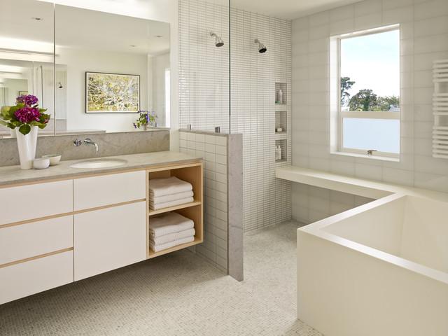 B s house phase ii contemporary bathroom san for Bathroom remodel 10k