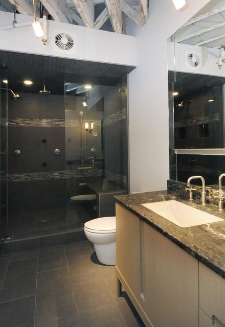 Bachelor 39 s bathroom contemporary bathroom chicago for Bachelor bathroom ideas