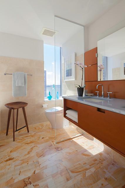 Bachelor's Tribeca Manhattan Residence contemporary-bathroom