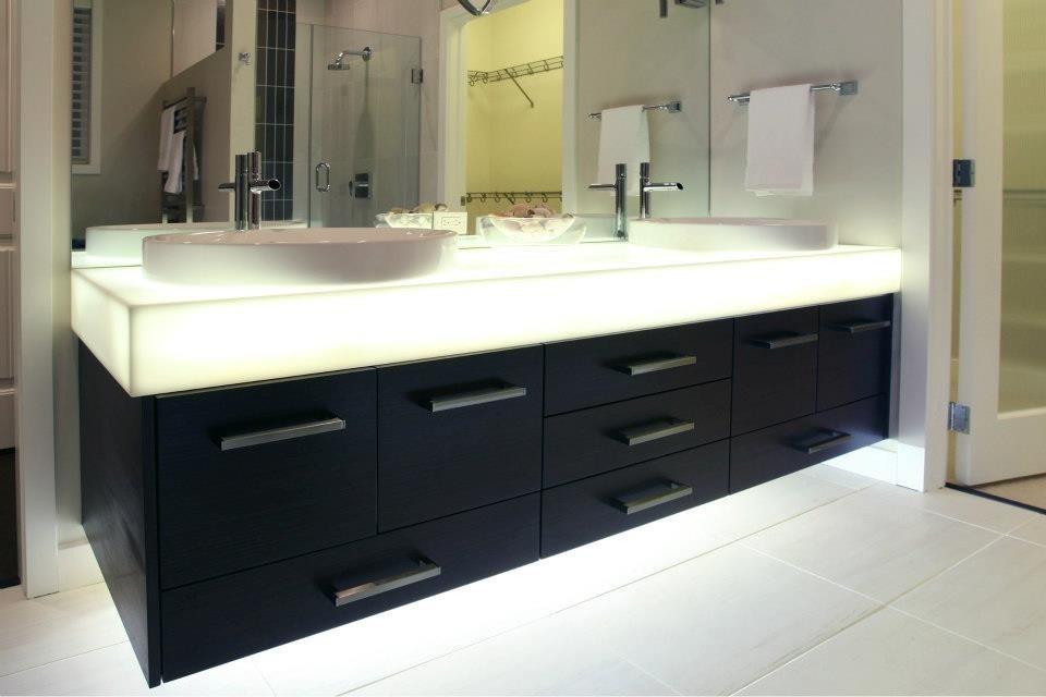 Backlit Corian® Floating Vanity
