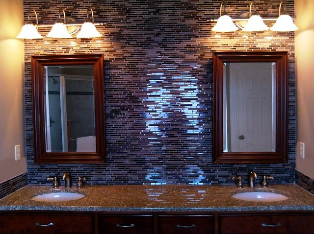Backsplash design ideas vol 2 traditional bathroom Bathroom designs with tile backsplashes