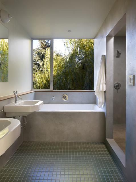 Backyard House contemporary-bathroom