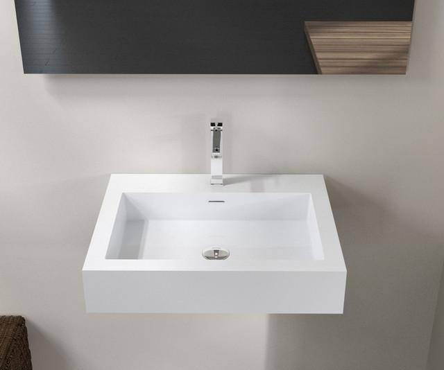 Stone Resin Sink : Badeloft Sinks - Wall Mounted - Stone Resin - Modern - Bathroom - san ...
