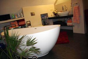 Badeloft 'WB-03' Countertop Stone Resin Sink - Matte or Gloss modern-bathroom