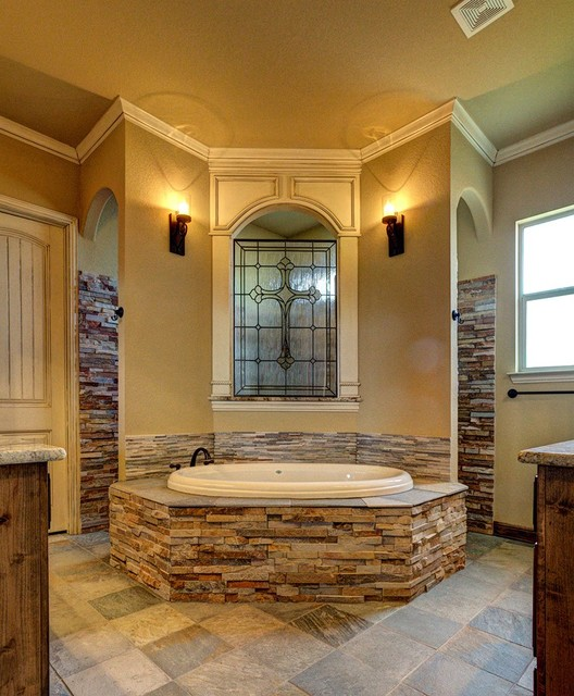 Bailee custom homes rustic bathroom dallas by q for Custom rustic homes
