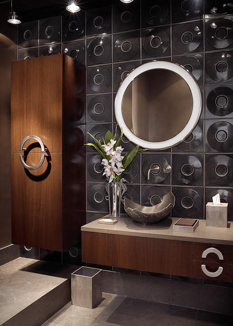 Bal Harbour powder room contemporary-bathroom
