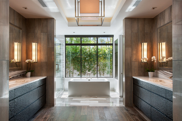 Bali Inspired Modern Contemporary Bathroom Phoenix By Western Window Systems