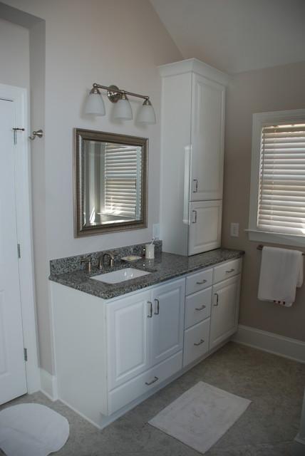 Bathroom - large traditional bathroom idea in Charlotte